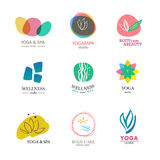 Set of vector logo elements royalty free illustration