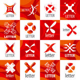 Set of vector logo letter X Stock Photography