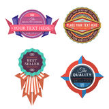 Set of vector logo retro labels and vintage style banners Royalty Free Stock Photos