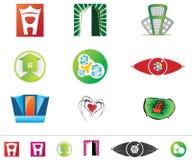 Set of vector logos royalty free illustration