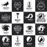 Set of vector logos for beauty salon Royalty Free Stock Photography