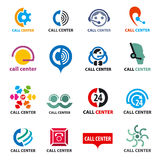 Set of vector logos call center Stock Photo