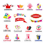 Set of vector logos carnival Royalty Free Stock Photos