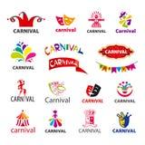Set of vector logos carnival. Big set of vector logos carnival Royalty Free Stock Photos