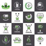 Set of vector logos charging accumulators. Large set of vector logos charging accumulators Royalty Free Stock Photography