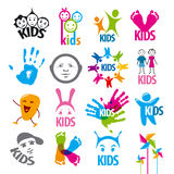 Set of vector logos children Royalty Free Stock Photography