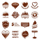 Set of vector logos chocolate. Large set of vector logos chocolate Stock Photography