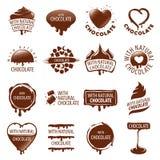 Set of vector logos chocolate Stock Photography