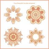 Set of vector logos. The circular pattern. Company logo, mark and element. Royalty Free Stock Image
