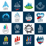 Set of vector logos city Royalty Free Stock Images