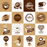 Set of vector logos coffee Stock Photography