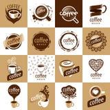 Set of vector logos coffee Stock Photography