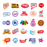 set of vector logos elements free Royalty Free Stock Image