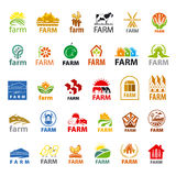 Set of vector logos farm Stock Photography