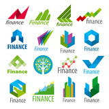 Set of vector logos Finance Royalty Free Stock Photography