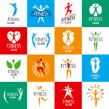Set of vector logos for fitness clubs Royalty Free Stock Images