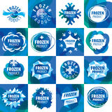 Set of vector logos for frozen products Royalty Free Stock Image