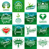 Set of vector logos for the garden Royalty Free Stock Image