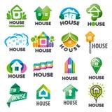 Set of vector logos homes. Large set of vector logos homes Royalty Free Stock Image