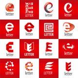 Set of vector logos letter E Stock Photos