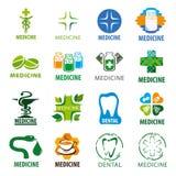 Set of vector logos for medicine Stock Photos