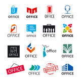Set of vector logos office. Big set of vector logos office Stock Photo