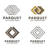 Set of vector logos parquet Stock Photos