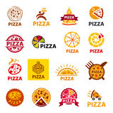 Set of vector logos pizza Stock Images