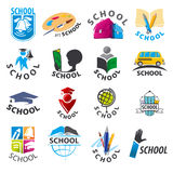 Set of vector logos School Royalty Free Stock Images