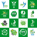 Set of vector logos for spa salon Stock Images