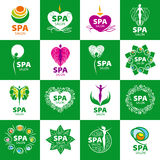 Set of vector logos for spa salon Royalty Free Stock Images