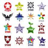 Set of vector logos star Royalty Free Stock Photo