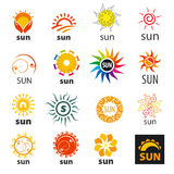 Set of vector logos sun Royalty Free Stock Images