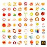 Set of vector logos sun stock illustration