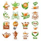 Set of vector logos tea Stock Photos
