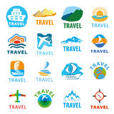 Set of vector logos for travel. Large set of vector logos for travel Stock Photos