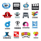 Set of vector logos for video production Royalty Free Stock Image