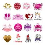 Set of vector logos for wedding Stock Photos