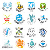 Set of vector logos weight loss Royalty Free Stock Image