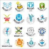 Set of vector logos weight loss. Large set of vector logos weight loss Royalty Free Stock Image
