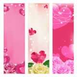 Set of vector love banners. Elements for design. Stock Images