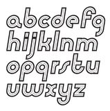 Set of vector lower case alphabet letters, can be used in retro. Poster design Royalty Free Stock Photo