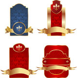 Set of vector luxury labels Stock Photography