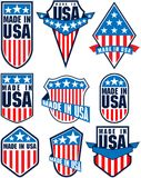Set of vector made in the USA labels emblems. Illustrations vector illustration