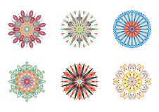 Set of vector mandalas. Colorful ethnic oriental circle folk ornament Royalty Free Stock Image