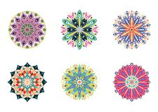 Set of vector mandalas. Colorful ethnic oriental circle folk ornament Stock Photo