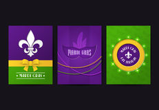 Set of vector mardi gras brochures Stock Photo