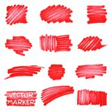 Set of vector marker spots Stock Photo
