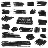 Set of vector marker stains Royalty Free Stock Image