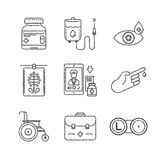 Set of vector medical icons and concepts in sketch style Royalty Free Stock Photos